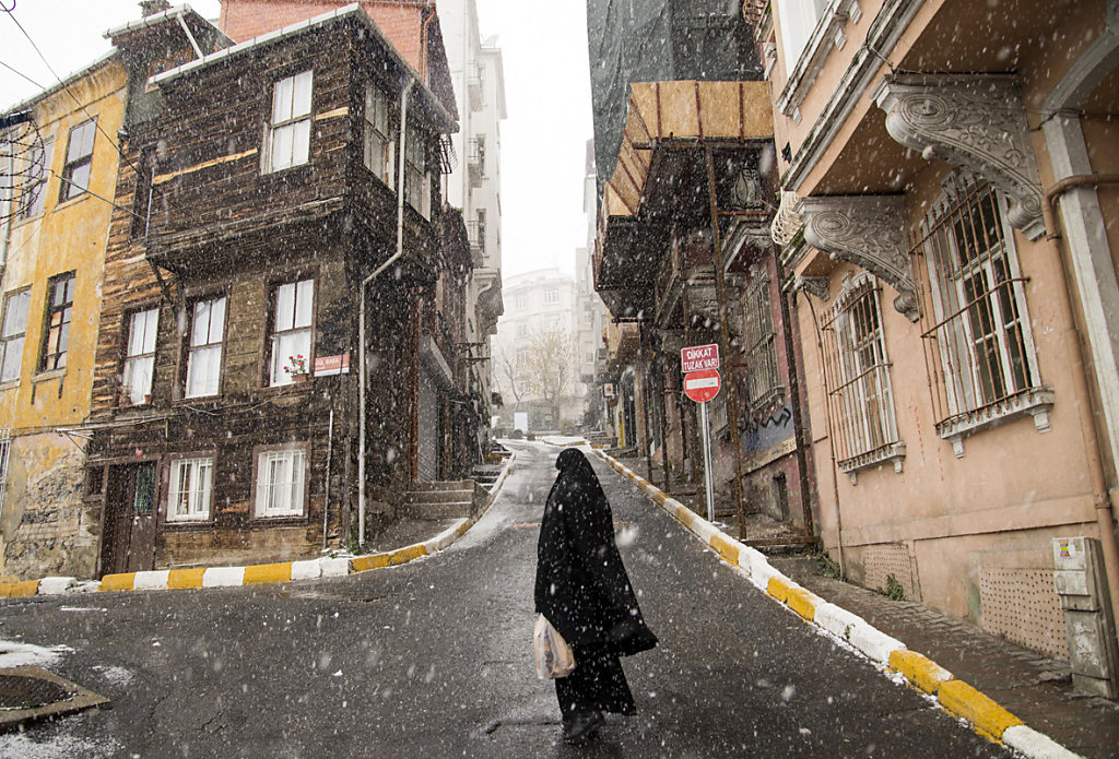 Snow in Istanbul 2015